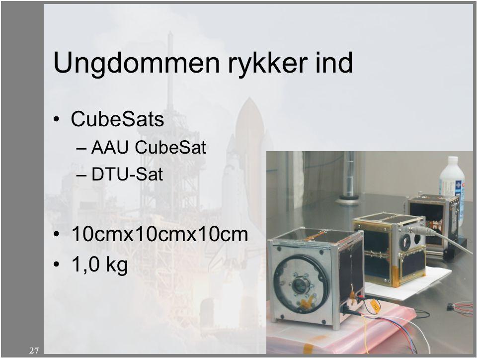 Ungdommen rykker ind CubeSats 10cmx10cmx10cm 1,0 kg AAU CubeSat