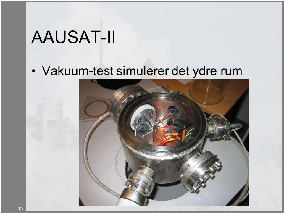 AAUSAT-II Vakuum-test simulerer det ydre rum