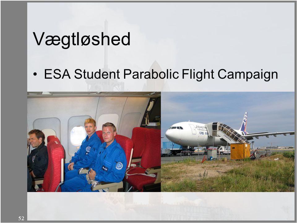 Vægtløshed ESA Student Parabolic Flight Campaign