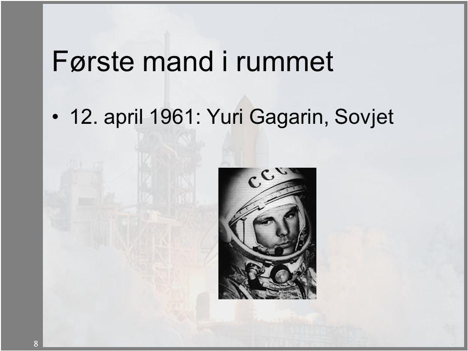 Første mand i rummet 12. april 1961: Yuri Gagarin, Sovjet