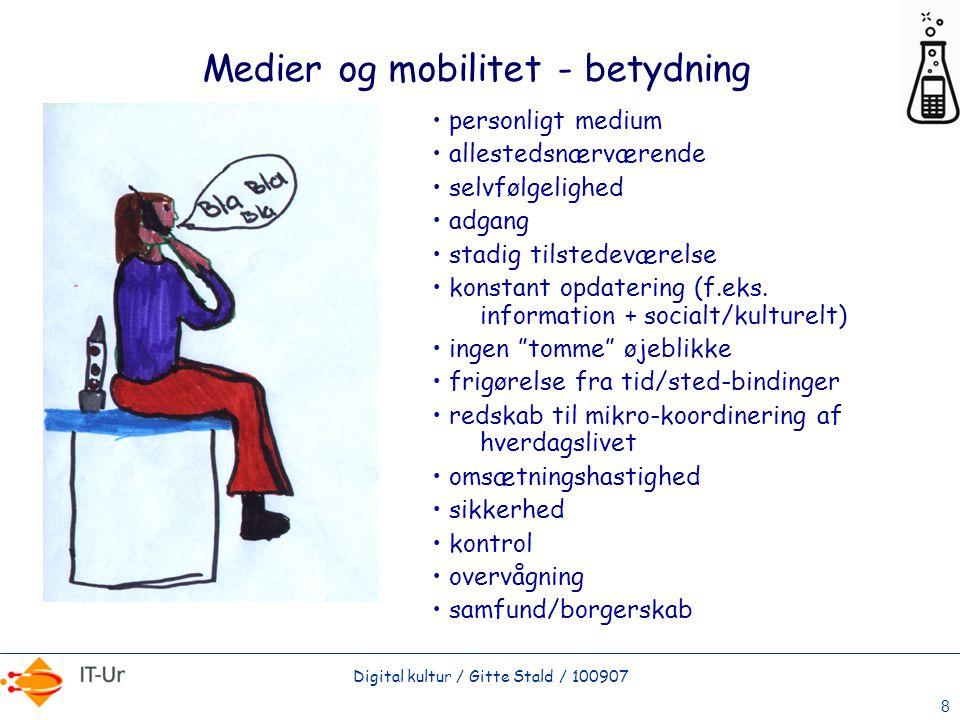Medier og mobilitet - betydning