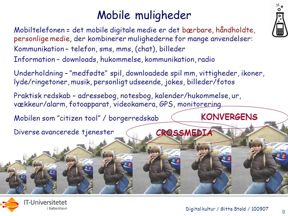 Mobile muligheder KONVERGENS CROSSMEDIA