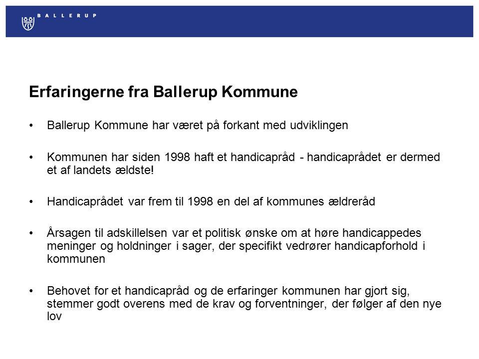 Erfaringerne fra Ballerup Kommune