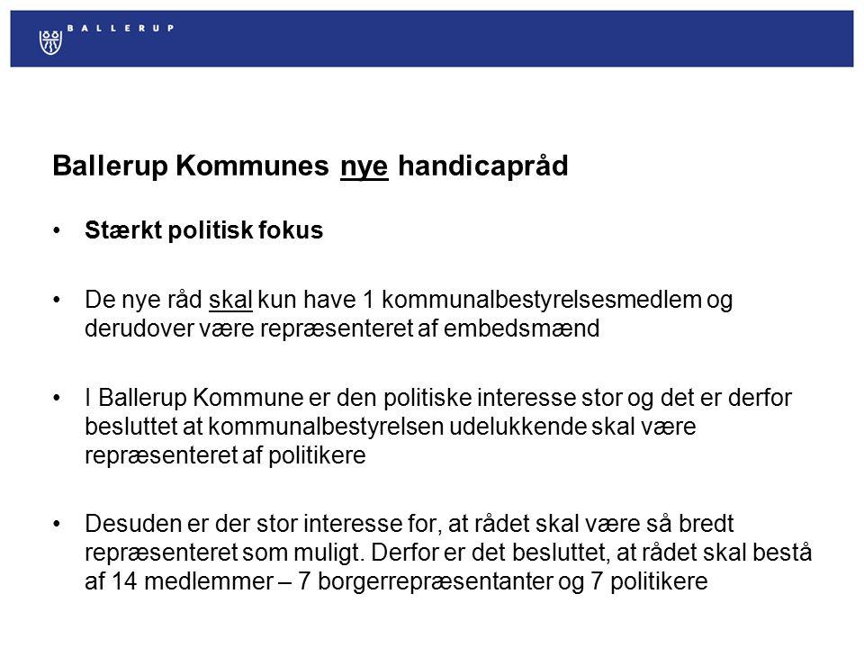 Ballerup Kommunes nye handicapråd