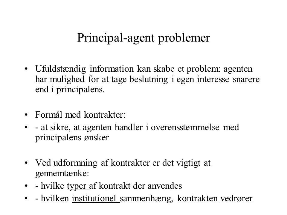 Principal-agent problemer