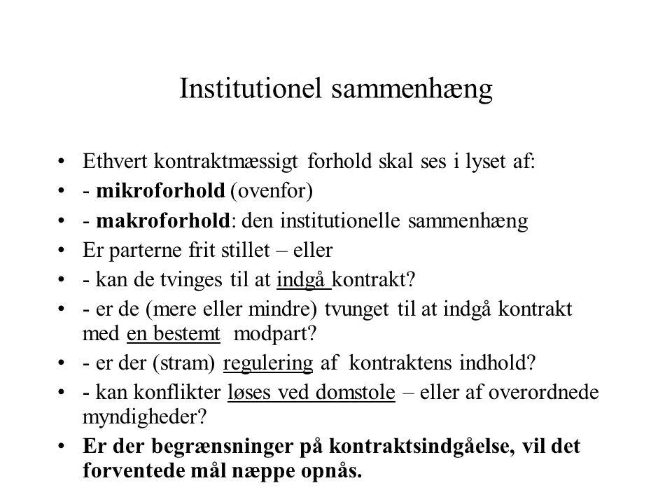 Institutionel sammenhæng