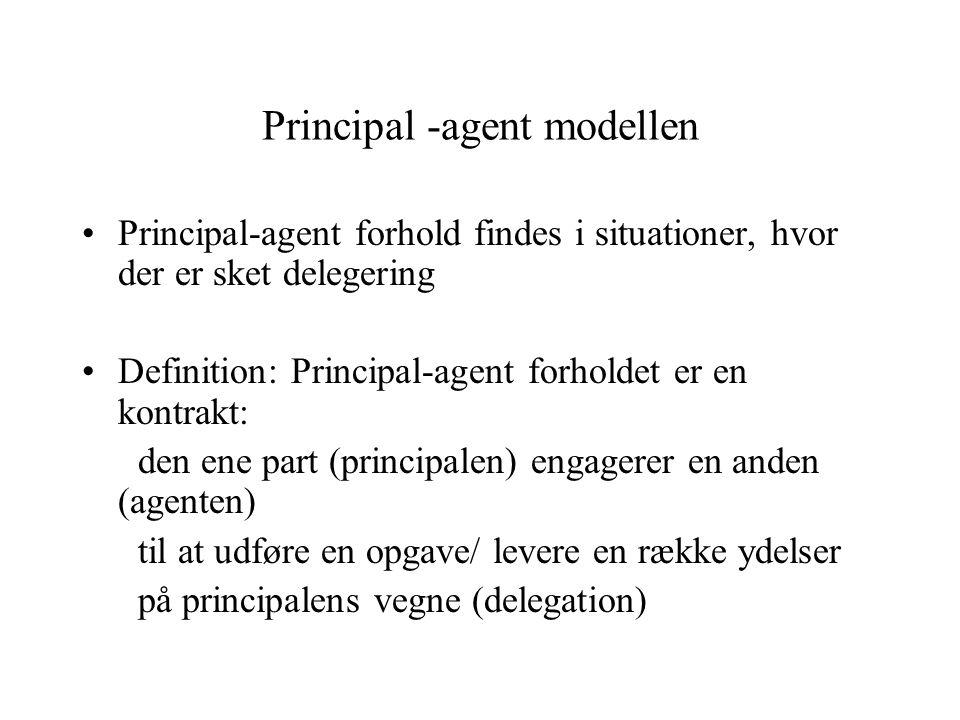 Principal -agent modellen