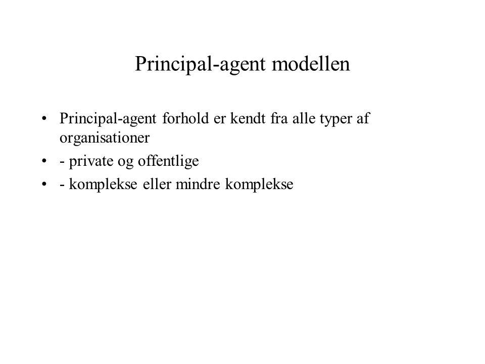 Principal-agent modellen