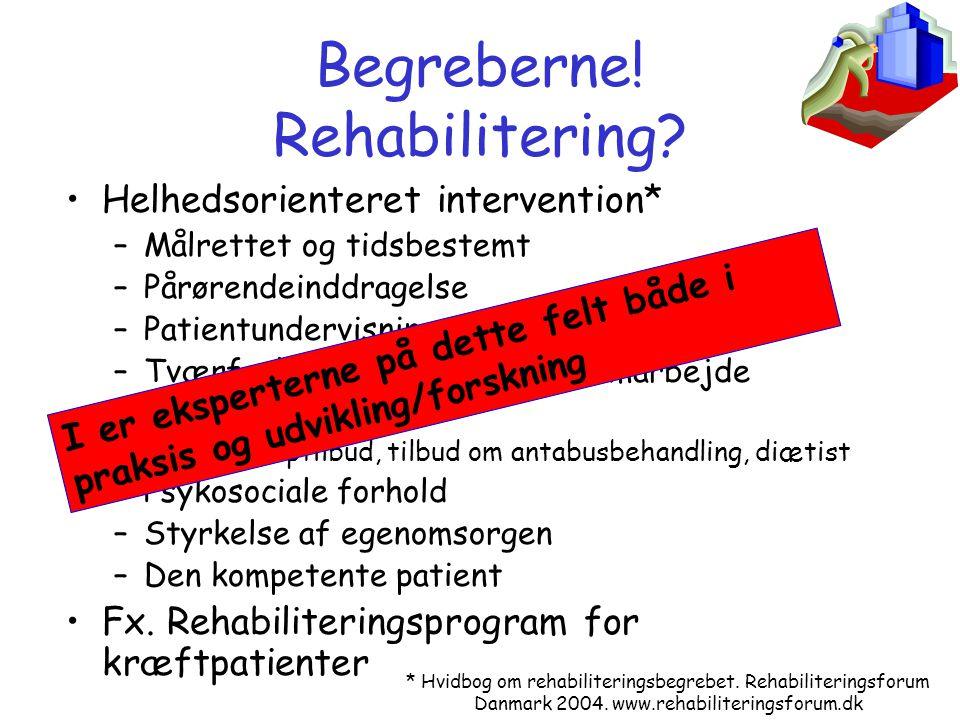 Begreberne! Rehabilitering