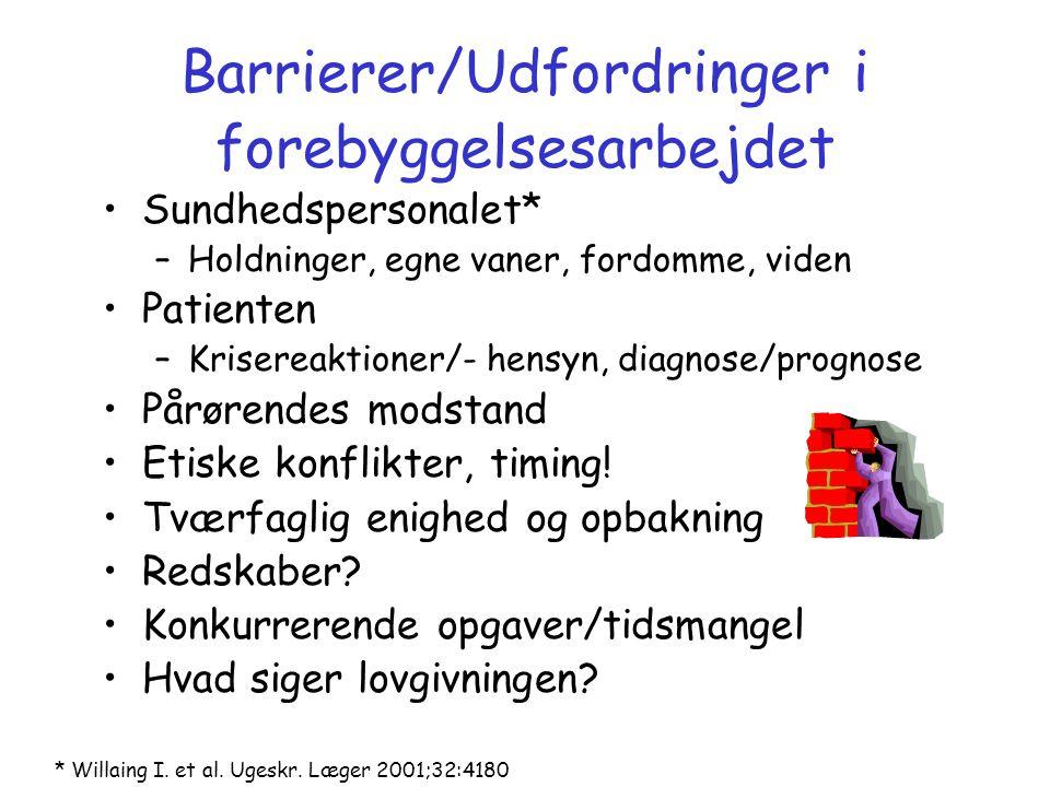 Barrierer/Udfordringer i forebyggelsesarbejdet
