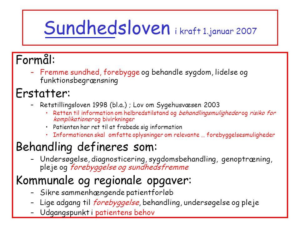 Sundhedsloven i kraft 1.januar 2007