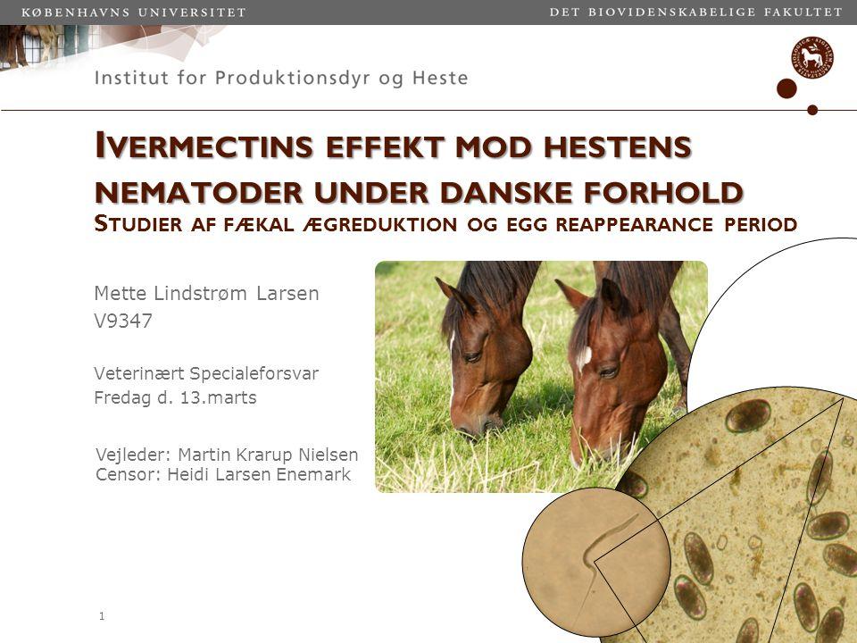 Ivermectins effekt mod hestens nematoder under danske forhold