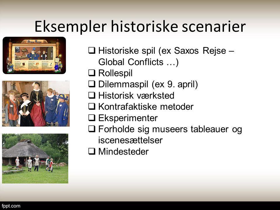 Eksempler historiske scenarier