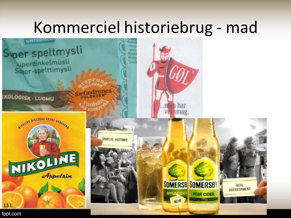 Kommerciel historiebrug - mad