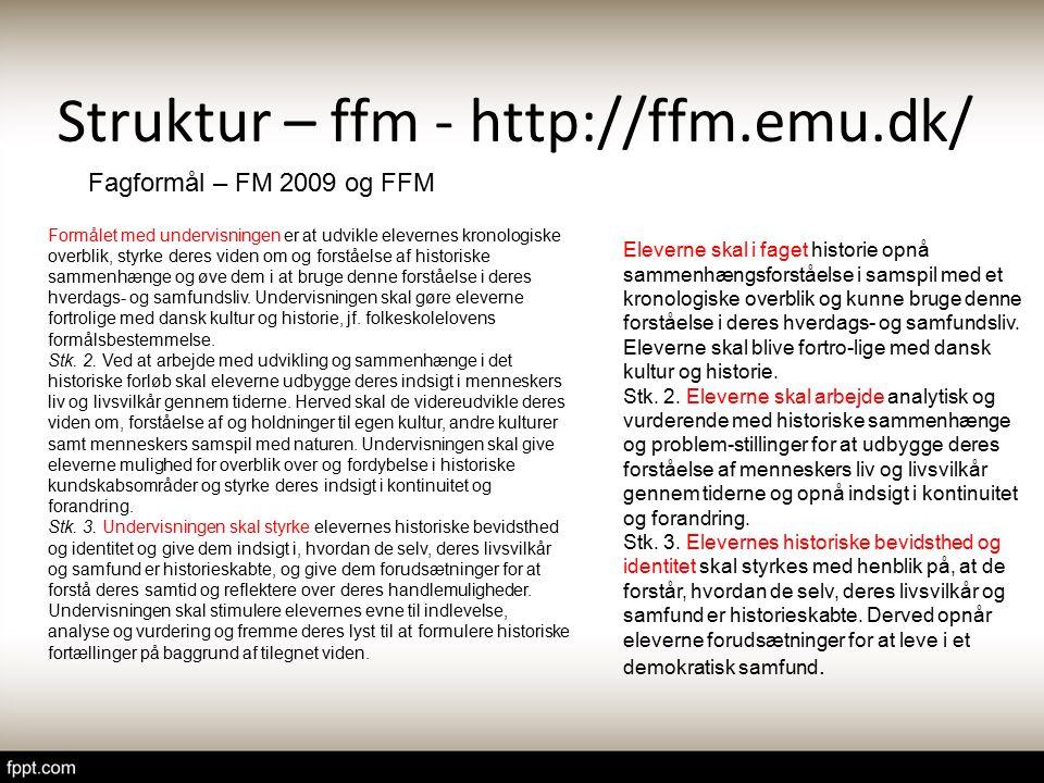 Struktur – ffm - http://ffm.emu.dk/