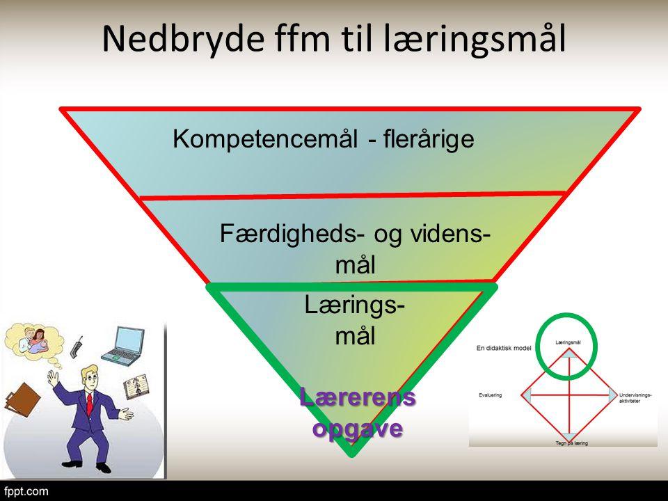Nedbryde ffm til læringsmål