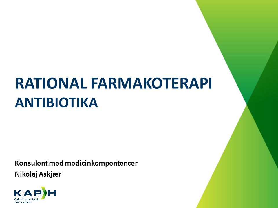 Rational farmakoterapi Antibiotika