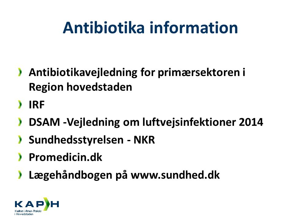 Antibiotika information