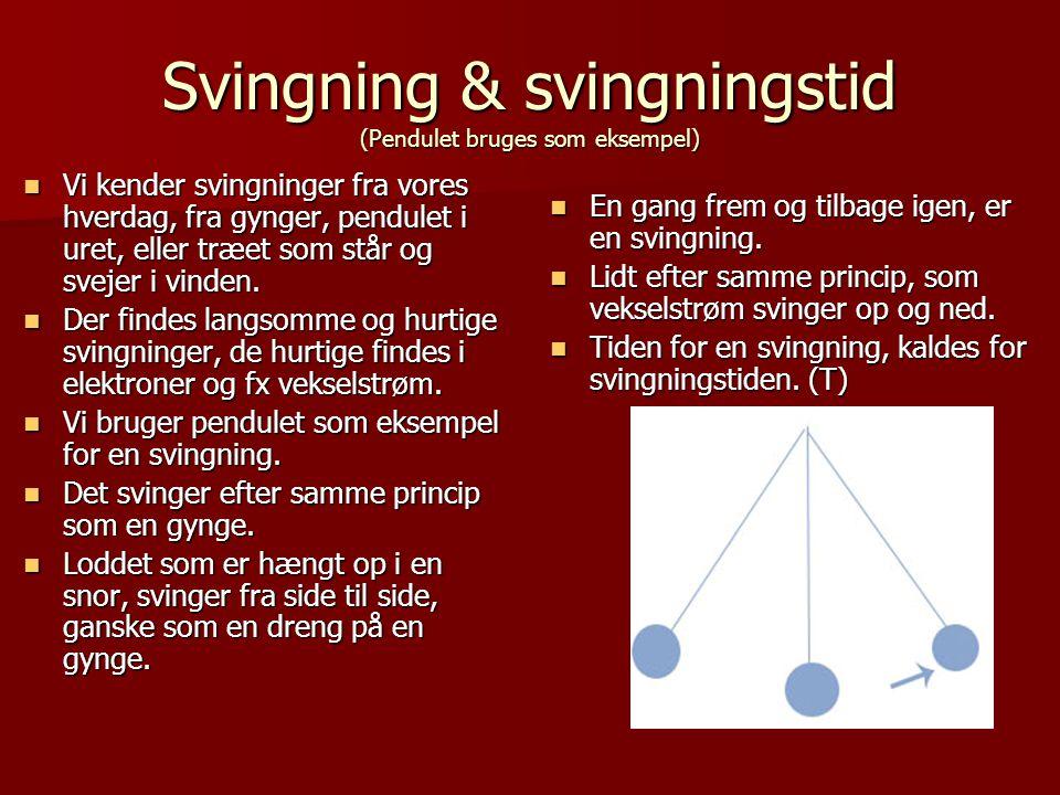Svingning & svingningstid (Pendulet bruges som eksempel)