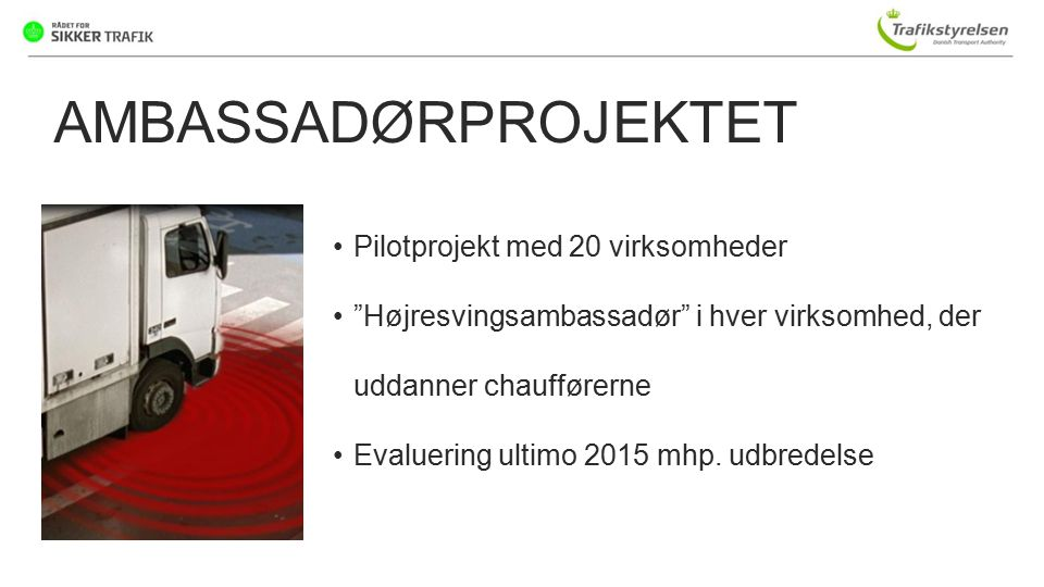 AMBASSADØRPROJEKTET Pilotprojekt med 20 virksomheder