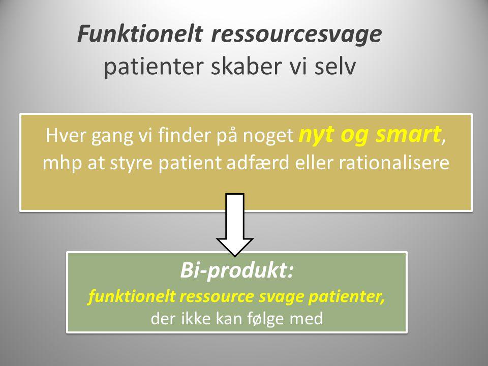 Funktionelt ressourcesvage funktionelt ressource svage patienter,
