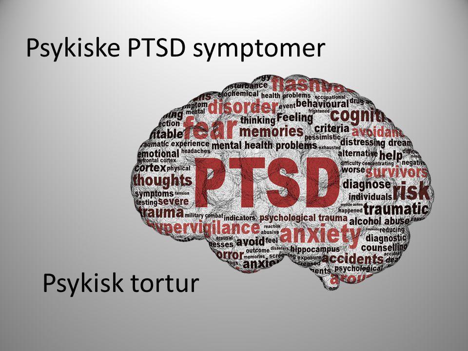 Psykiske PTSD symptomer