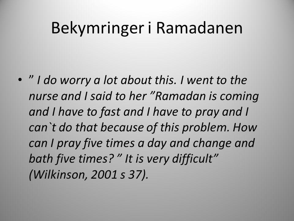 Bekymringer i Ramadanen