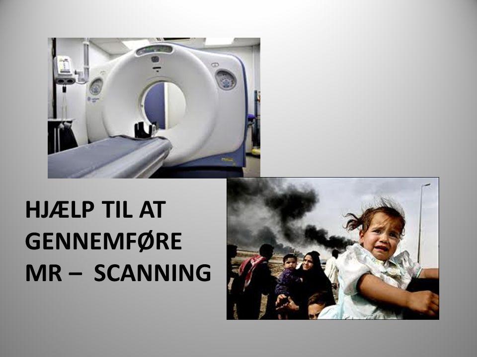 Hjælp til at gennemføre MR – scanning