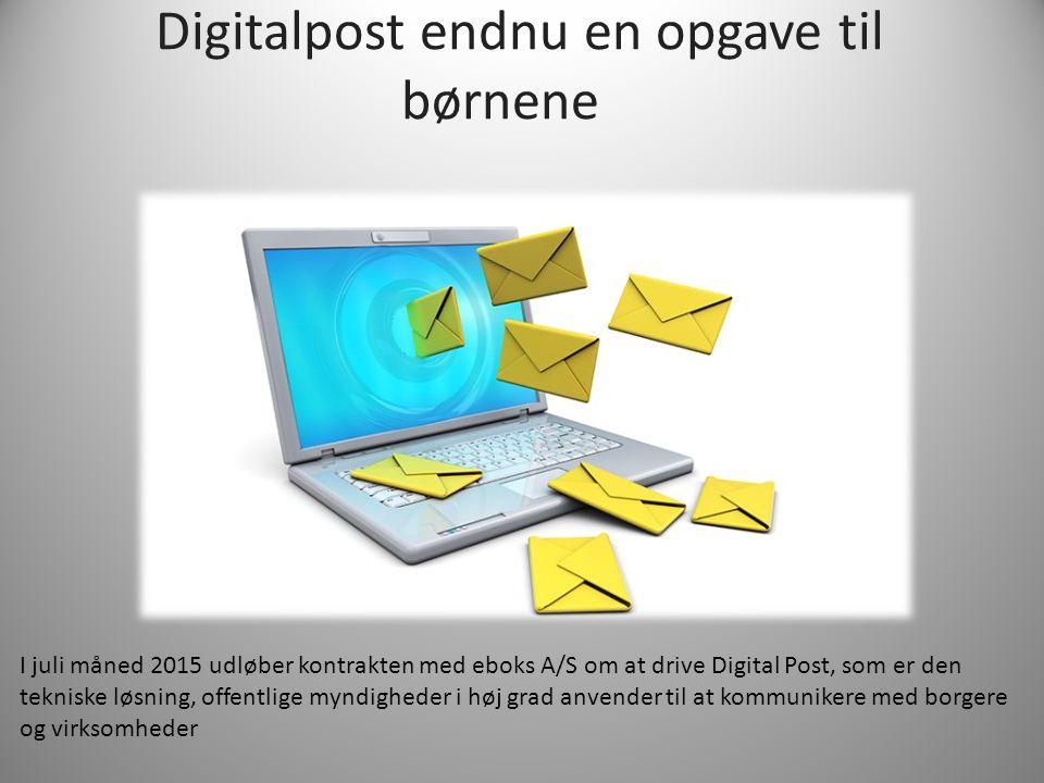 Digitalpost endnu en opgave til børnene