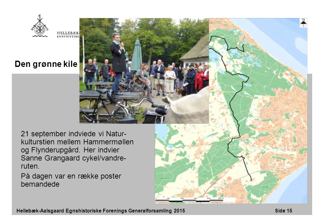 Den grønne kile 21 september indviede vi Natur-kulturstien mellem Hammermøllen og Flynderupgård. Her indvier Sanne Grangaard cykel/vandre-ruten.