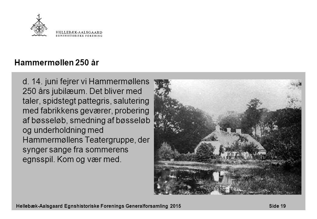 Hammermøllen 250 år