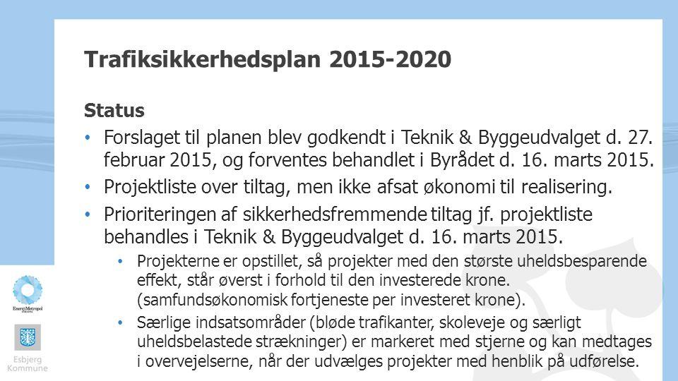 Trafiksikkerhedsplan 2015-2020