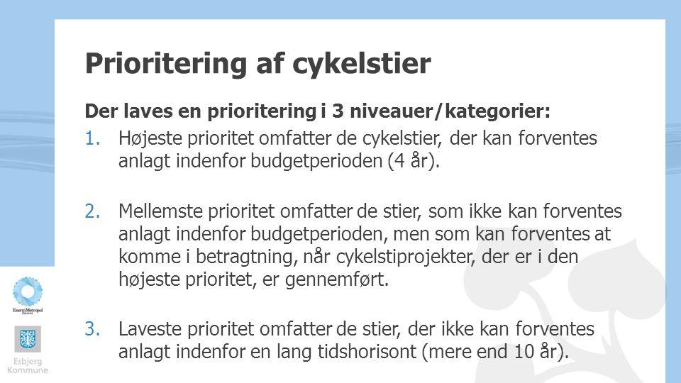 Prioritering af cykelstier