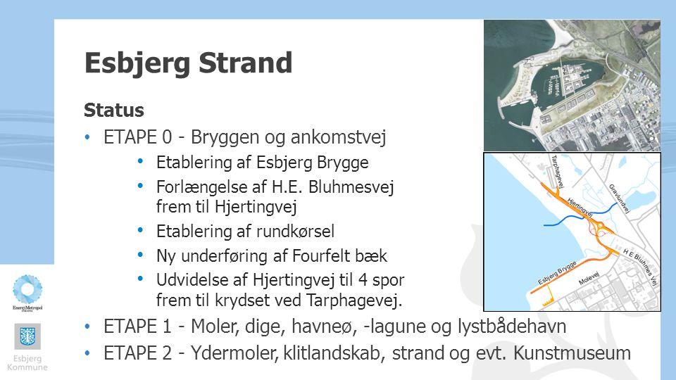 Esbjerg Strand Status ETAPE 0 - Bryggen og ankomstvej