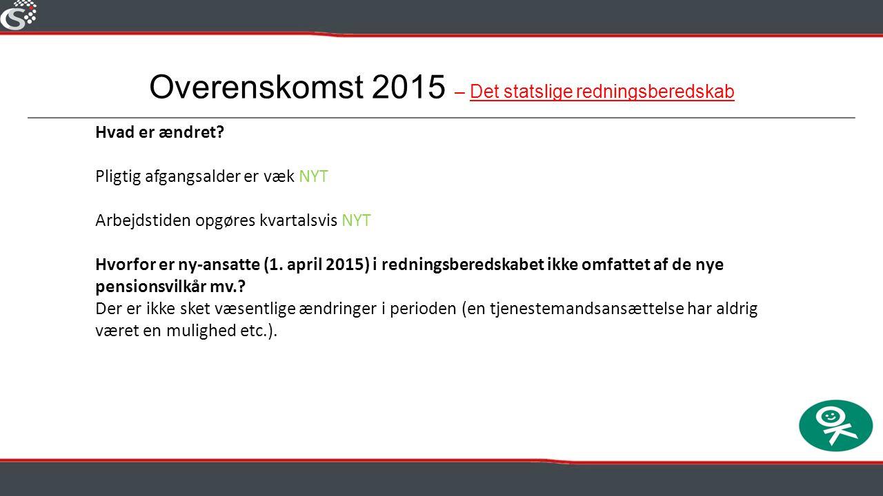 Overenskomst 2015 – Det statslige redningsberedskab
