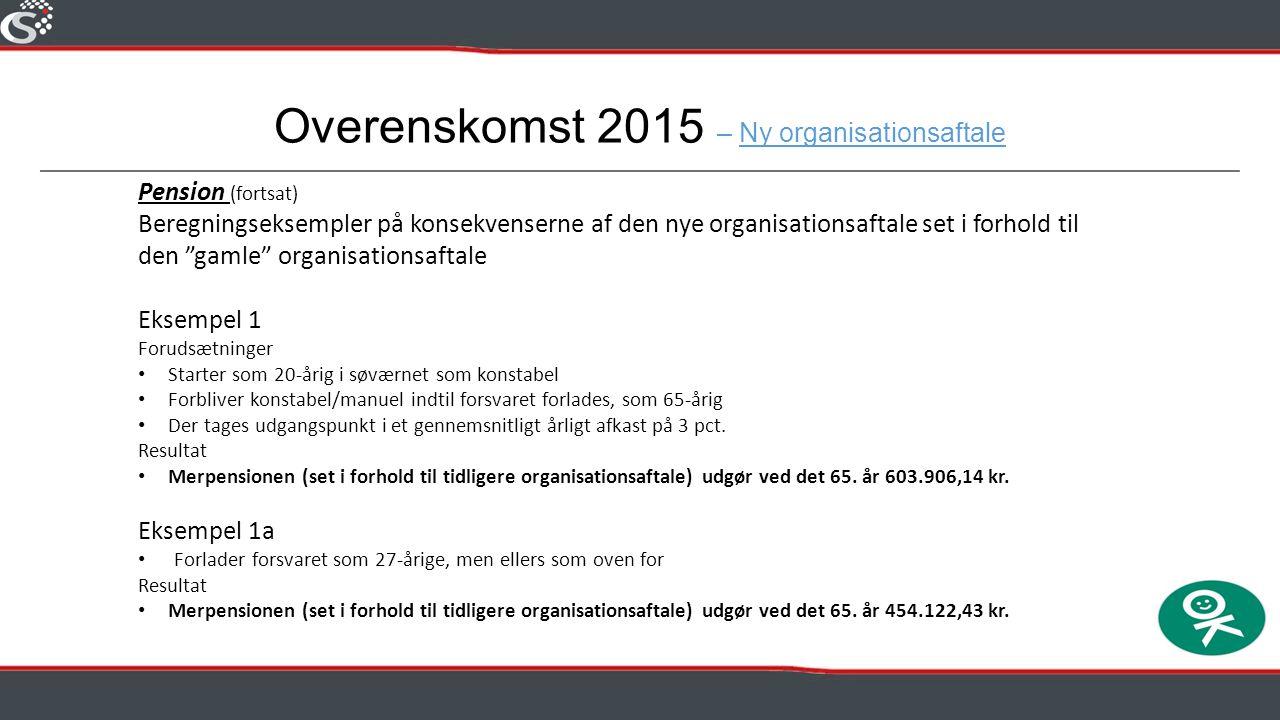 Overenskomst 2015 – Ny organisationsaftale