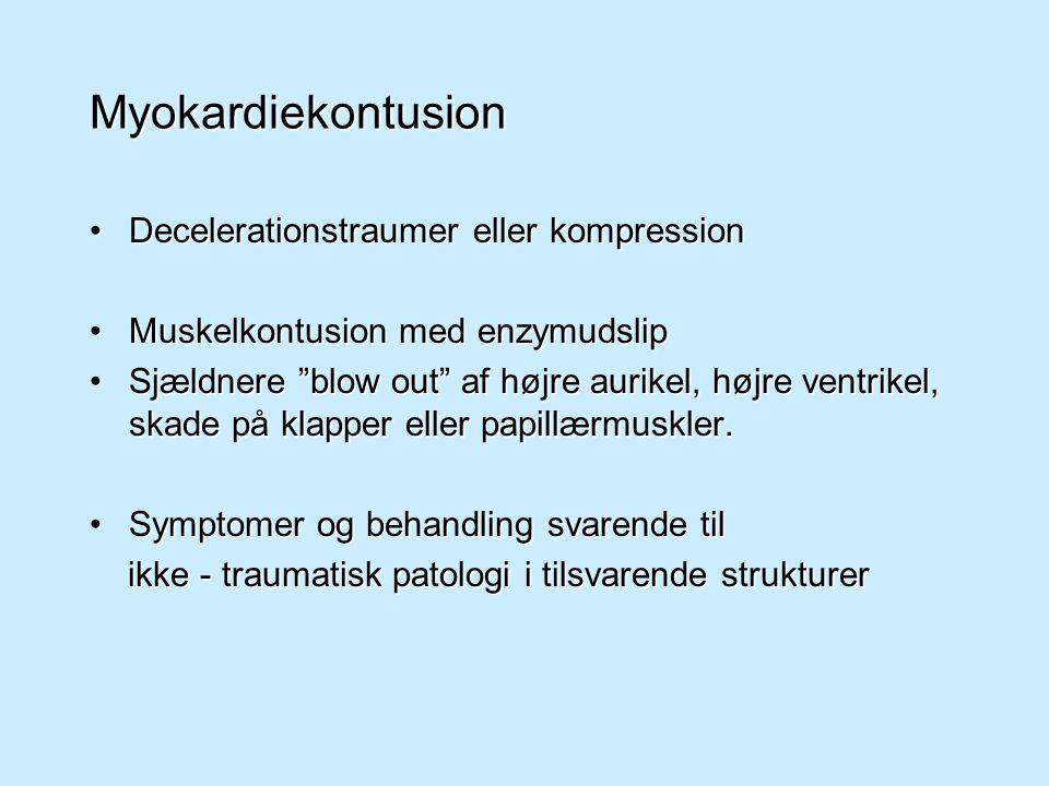 Myokardiekontusion Decelerationstraumer eller kompression