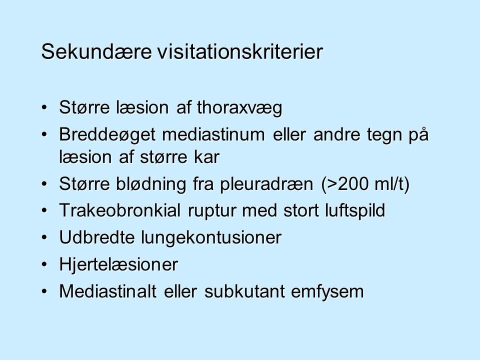 Sekundære visitationskriterier