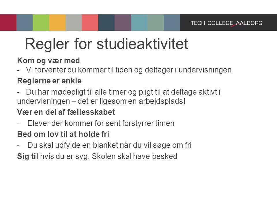 Regler for studieaktivitet