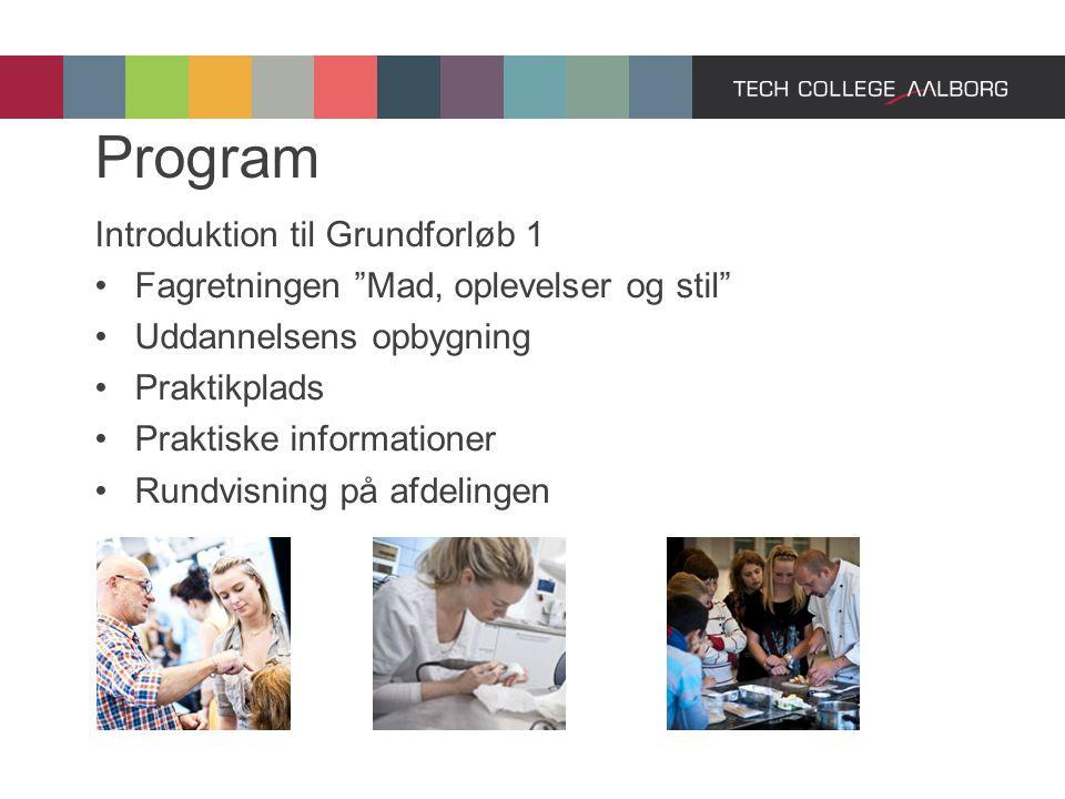 Program Introduktion til Grundforløb 1