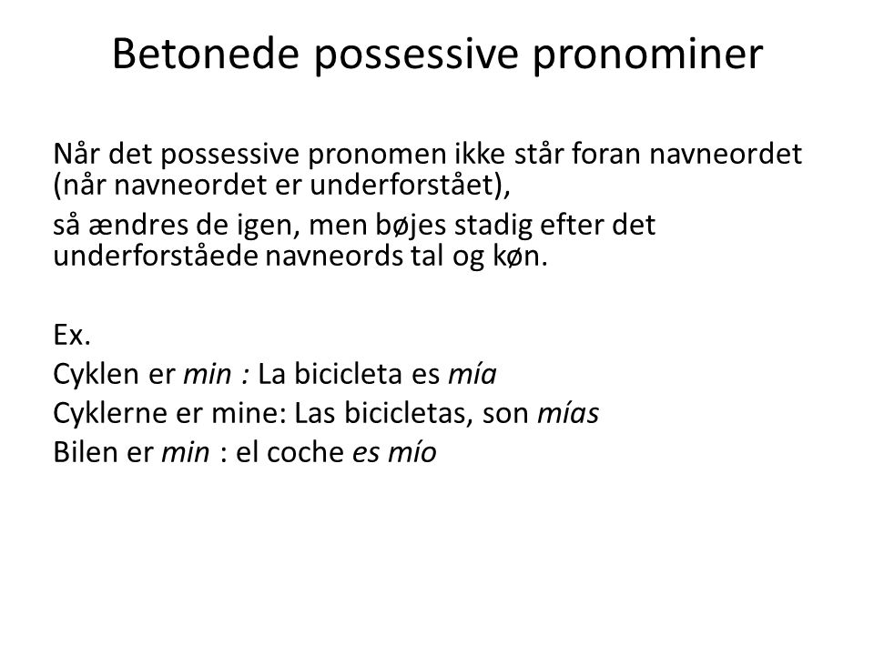 Betonede possessive pronominer