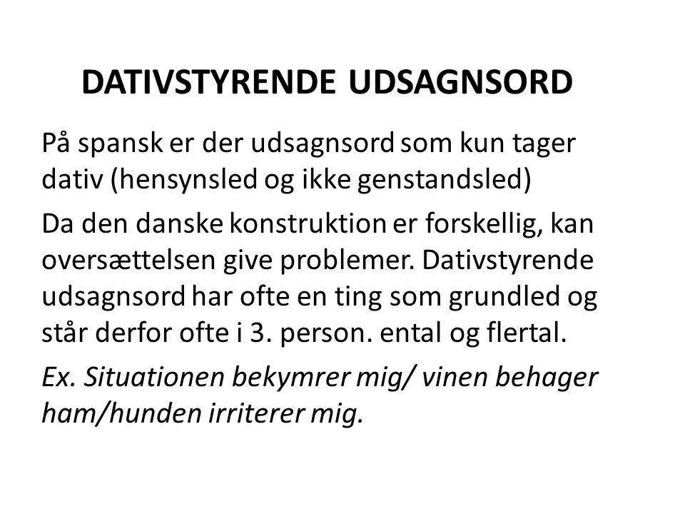 DATIVSTYRENDE UDSAGNSORD