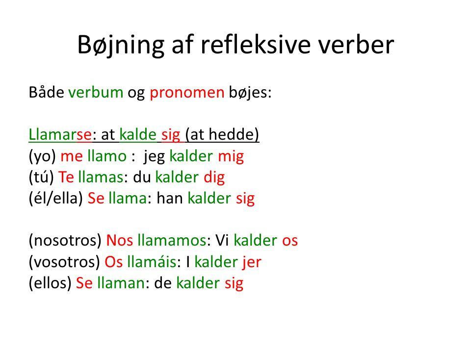 Bøjning af refleksive verber