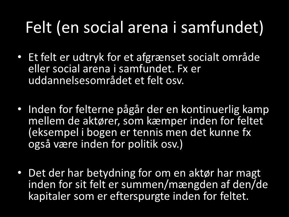 Felt (en social arena i samfundet)