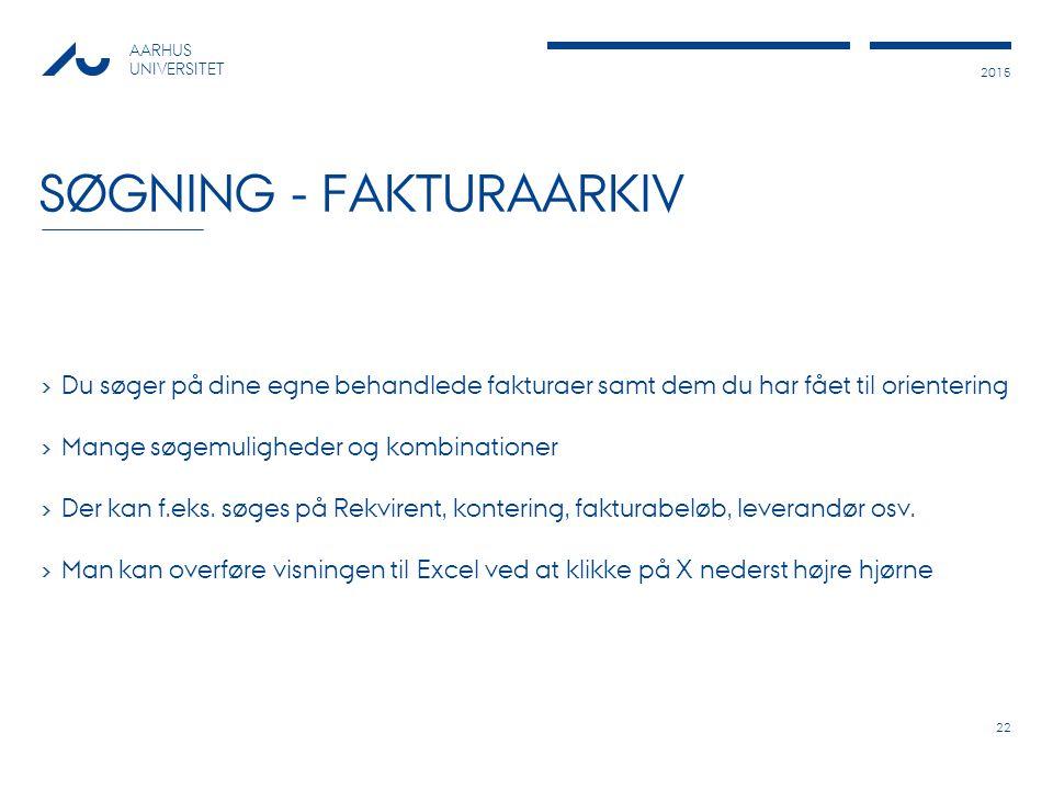 Søgning - Fakturaarkiv