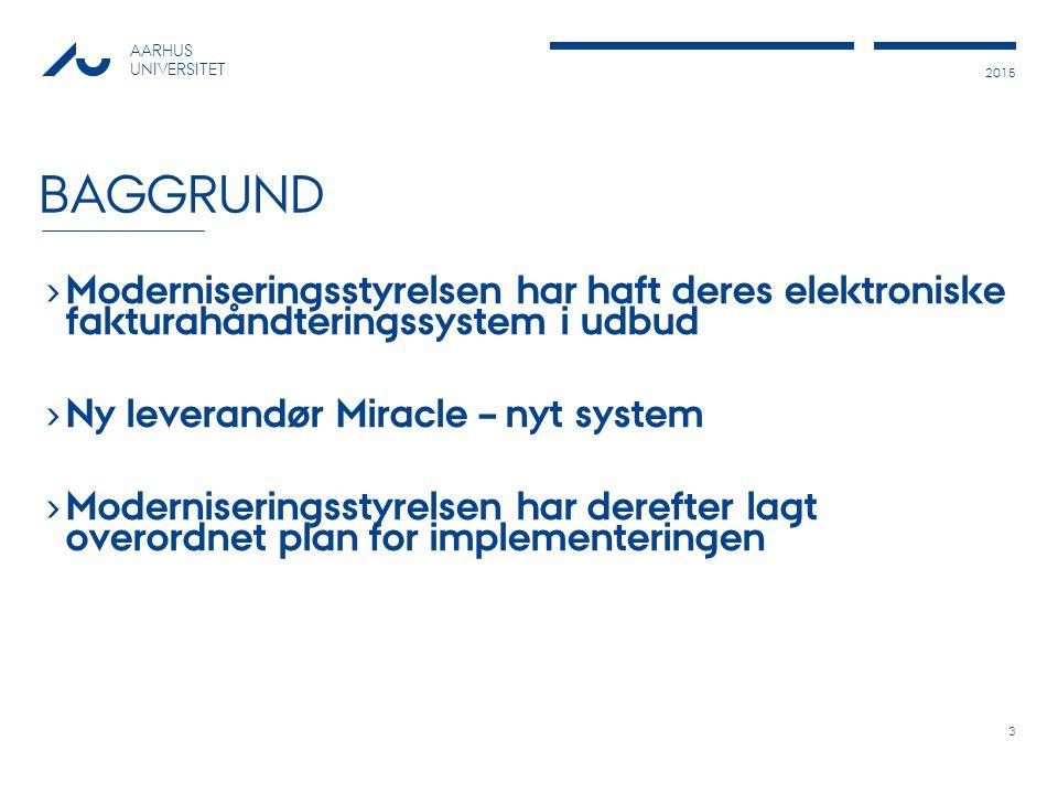 Baggrund Moderniseringsstyrelsen har haft deres elektroniske fakturahåndteringssystem i udbud. Ny leverandør Miracle – nyt system.
