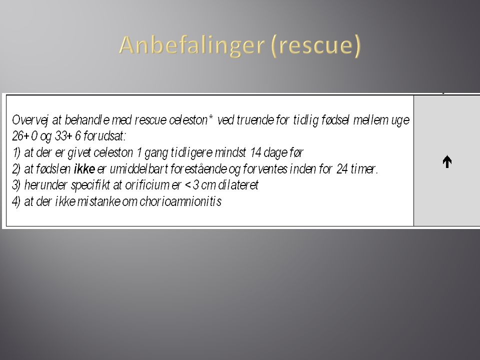 Anbefalinger (rescue)