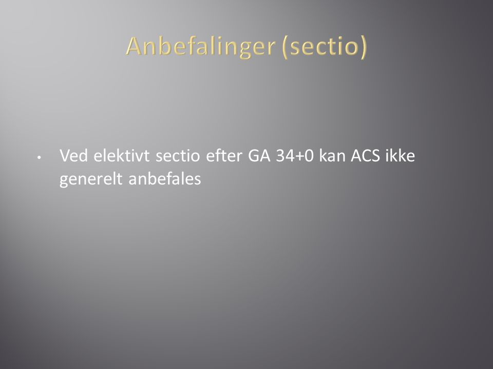 Anbefalinger (sectio)