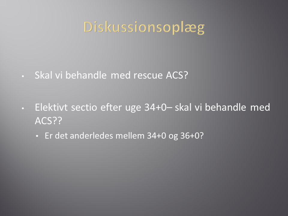 Diskussionsoplæg Skal vi behandle med rescue ACS