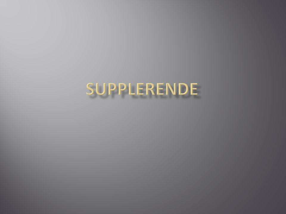 SUPPLERENDE
